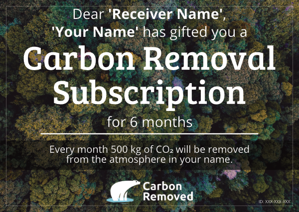 Carbon Removed Gift Cards